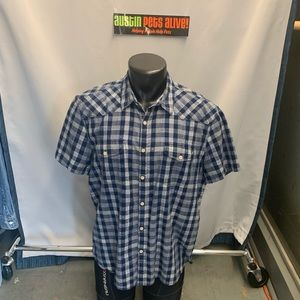 Lucky Brand men's plaid shirt. Tag says size XL